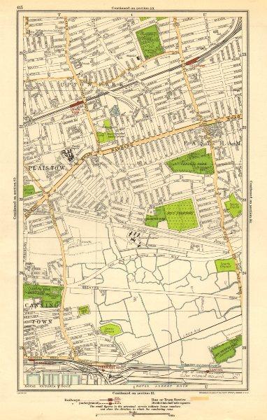 Associate Product LONDON. East Ham, Plaistow, Upton Park, West Ham, Custom House 1923 old map