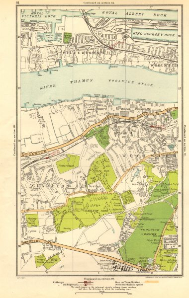 Associate Product LONDON. Charlton, Greenwich, Silvertown, Woolwich Dockyard 1923 old map