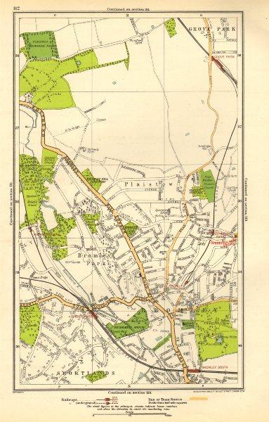 Associate Product BROMLEY. Downham, Grove Park, Plaistow, Shortlands, Ravensbourne 1923 old map