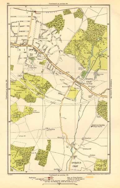 Associate Product SIDCUP.Foots Cray, St Paul's Cray, Queen's Hospital Frognal(Q Mary's) 1923 map