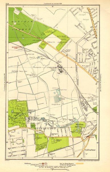 Associate Product SURREY. Beddington Lane, Coldharbour, Sandhills, Waddon, Ampere Way 1923 map