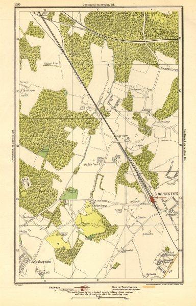 PETT'S WOOD. Orpington, Locksbottom, Crofton, Southborough 1923 old map