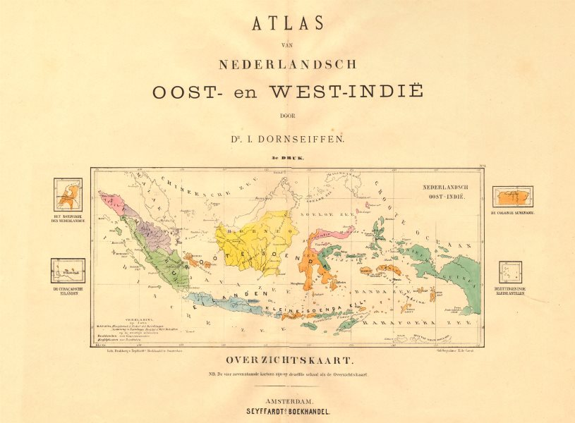 Associate Product DUTCH EAST INDIES. Indonesia. DORNSEIFFEN 1892 old antique map plan chart