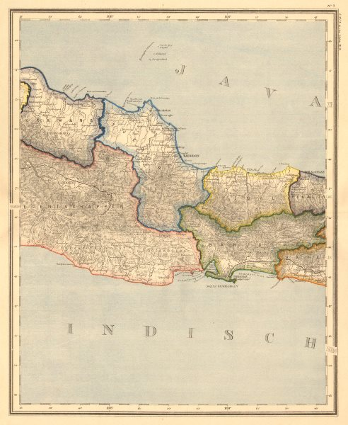Associate Product DUTCH EAST INDIES.Indonesia.West Central JAVA. Bandung. DORNSEIFFEN 1892 map