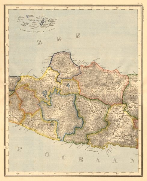 Associate Product DUTCH EAST INDIES. Indonesia. JAVA. Yogyakarta Semarang. DORNSEIFFEN 1892 map