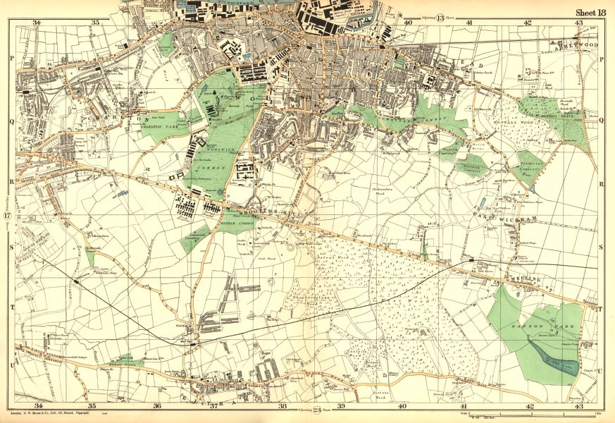 Associate Product WOOLWICH. Charlton,Eltham,Bexley,Plumstead,Shooters Hill, G'wich.BACON 1902 map