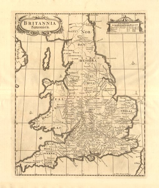 Associate Product Saxon Britain.'BRITANNIA SAXONICA' by ROBERT MORDEN.Camden's Britannia 1772 map