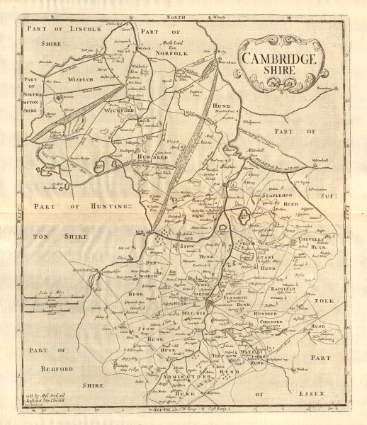Associate Product CAMBRIDGESHIRE. by ROBERT MORDEN from Camden's Britannia 1772 old antique map