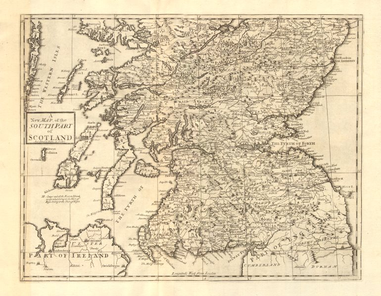 Associate Product SOUTHERN SCOTLAND. by ANDREW JOHNSTON from Camden's Britannia 1772 old map