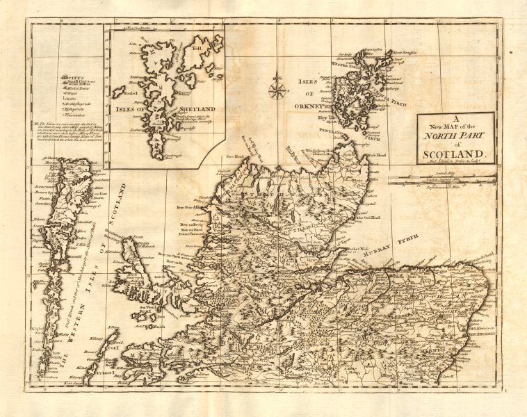 Associate Product NORTHERN SCOTLAND. by ANDREW JOHNSTON from Camden's Britannia 1772 old map