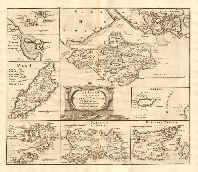 Associate Product ENGLAND. Isles of Wight/Man Scilly Isles Farne/Channel Islands. MORDEN 1772 map