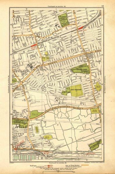 Associate Product LONDON. East Ham, Plaistow, Upton Park, West Ham, Custom House 1928 old map