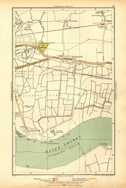 Associate Product LONDON. Creekmouth, Rippleside, Upney, Becontree, Thamesmead 1928 old map