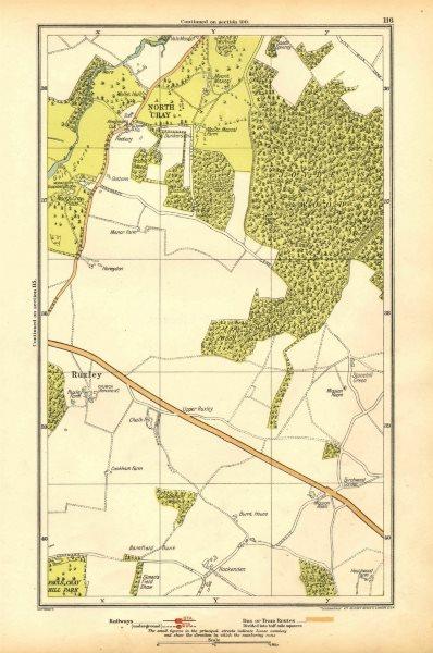 Associate Product JOYDEN'S WOOD. North Cray, Foot's Cray, Ruxley, Swanley 1928 old vintage map
