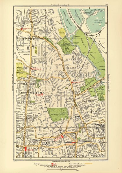 Associate Product STOKE NEWINGTON. Dalston Clapton Stamford Hill Upper Clapton 1933 old map