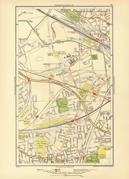 ACTON. Park Royal Stonebridge Park Harlesden Old Oak Lane 1933 vintage map