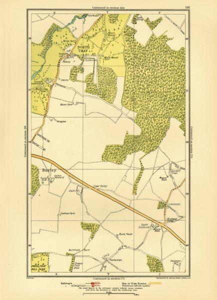Associate Product JOYDEN'S WOOD. North Cray Foot's Cray Ruxley Swanley 1933 old vintage map