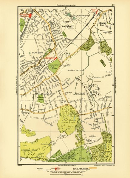 Associate Product CROYDON. Addiscombe South Norwood/Junction Woodside Shirley Elmers End 1933 map