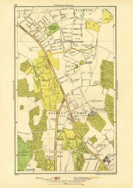 Associate Product BROMLEY COMMON. Keston Keston Mark Locksbottom Southborough Bromley 1933 map