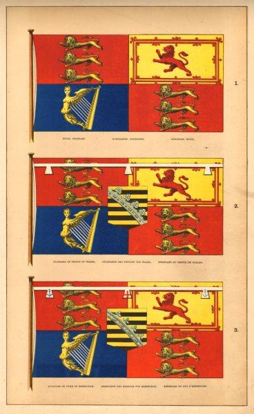 Associate Product BRITISH FLAGS. Royal/Prince of Wales/Duke of Edinburgh Standards. HOUNSELL 1873