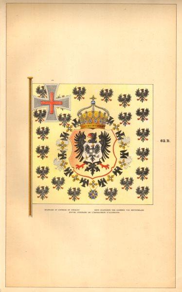 Associate Product GERMANY IMPERIAL FLAG. Empress' Standard. Standarte Kaiserin Deutschland 1873