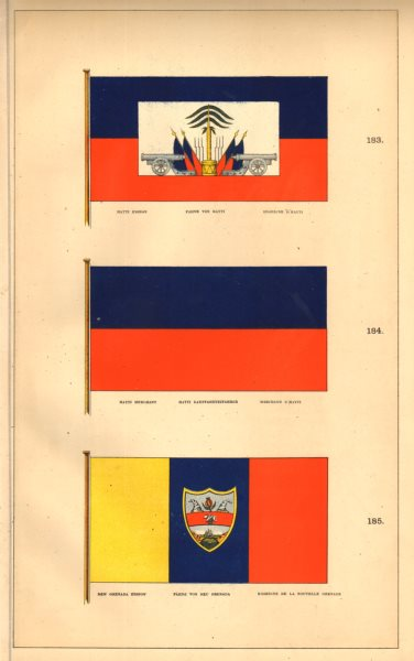 Associate Product HAITI/COLOMBIA FLAGS. Hayti Ensign & Merchant; New Grenada Ensign. HOUNSELL 1873
