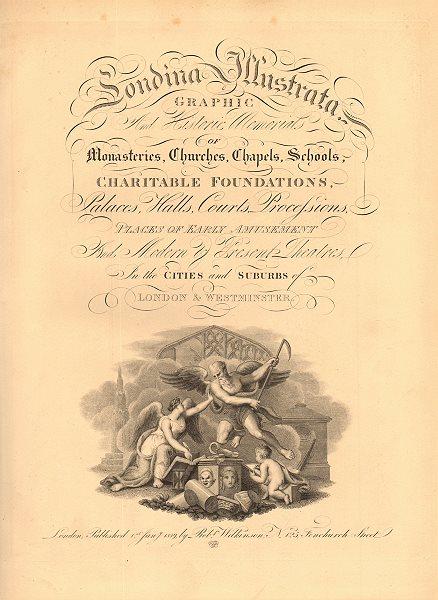 Associate Product 'LONDINA ILLUSTRATA'. Decorative title page. Volume 1. London. WILKINSON 1834