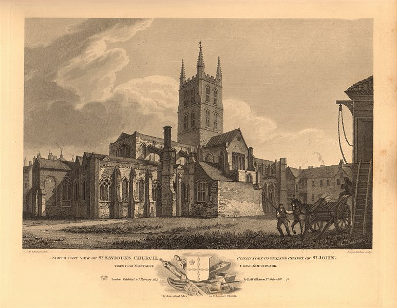 Associate Product SOUTHWARK CATHEDRAL St Saviour's Church Consistory Court St John's chapel 1834
