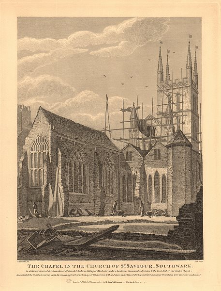 Associate Product SOUTHWARK CATHEDRAL. The Chapel in the church of St. Saviour. WILKINSON 1834