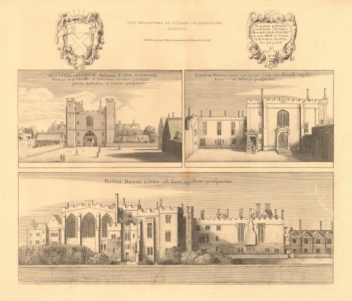 Associate Product CLERKENWELL PRIORY. The Monastery of St. John of Jerusalem. After HOLLAR 1834