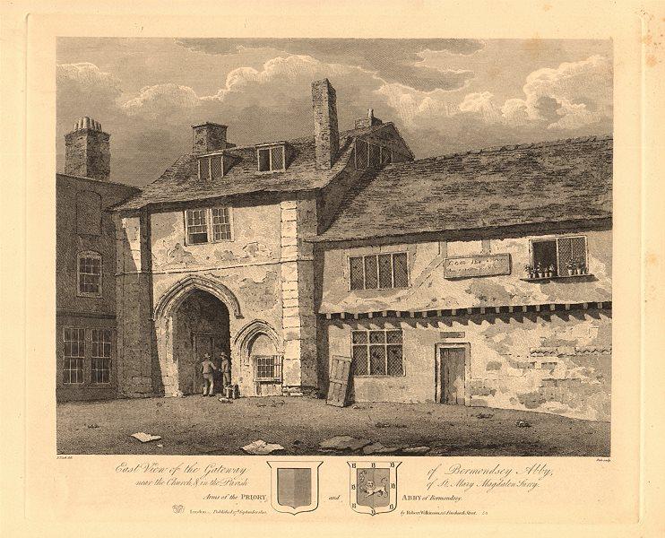 Associate Product BERMONDSEY ABBEY. Gateway. East view. Site of Bermondsey Market/Square 1834