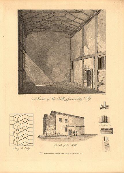Associate Product BERMONDSEY ABBEY. Hall interior/exterior. Site of Bermondsey Market/Square 1834