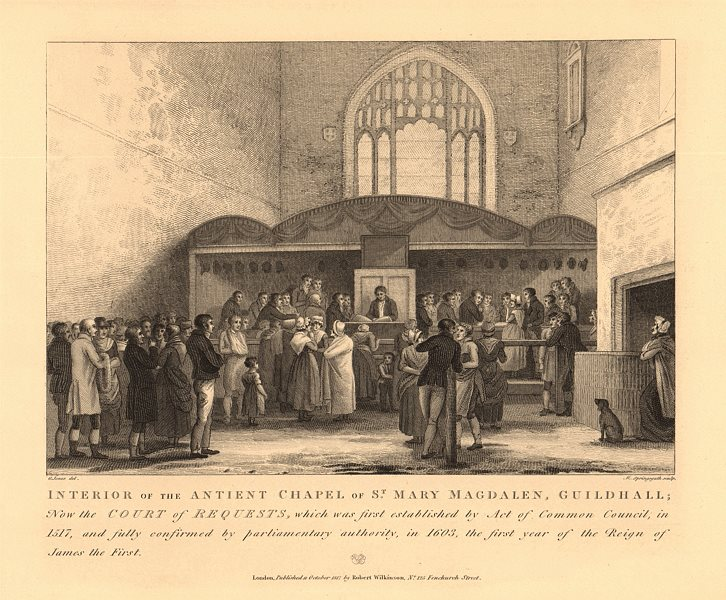 Associate Product GUILDHALL, City of London. Chapel of St Magdalen & All Saints. Interior 1834