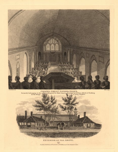Associate Product ILFORD HOSPITAL CHAPEL of St. Mary & St. Thomas of Canterbury. Essex 1834