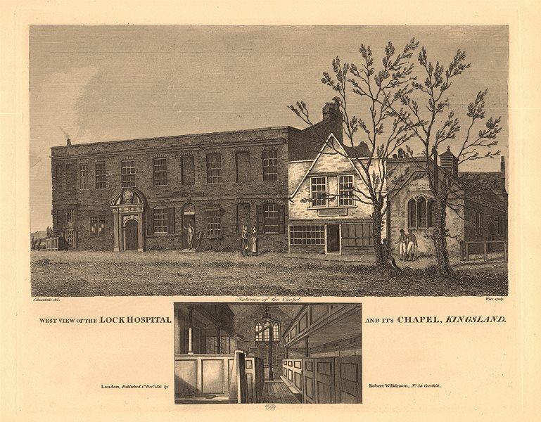 Associate Product KINGSLAND LOCK (LEPER) HOSPITAL & CHAPEL, Kingsland Green, Dalston. London 1834