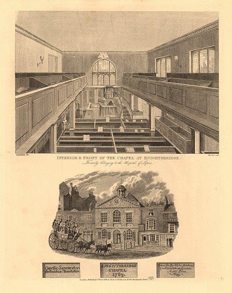 Associate Product HOLY TRINITY CHAPEL, Albert Gate, KNIGHTSBRIDGE. Former leper hospital 1834
