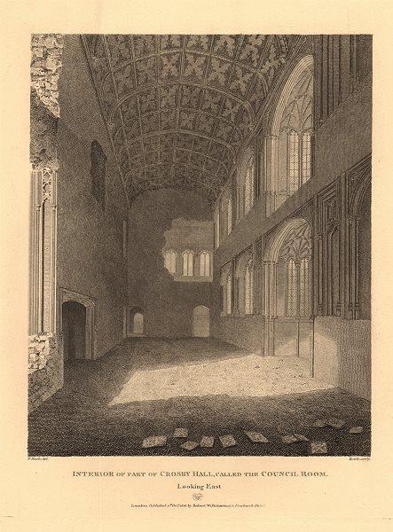 Associate Product CROSBY HALL. Bishopsgate, now Cheyne Walk, Chelsea. Council Room 1834 print