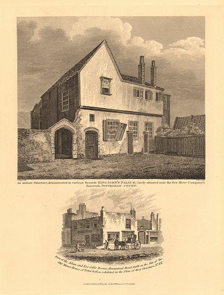 Associate Product KING JOHN'S PALACE, Tottenham Court & Adam & Eve Tea Rooms. Euston Square 1834