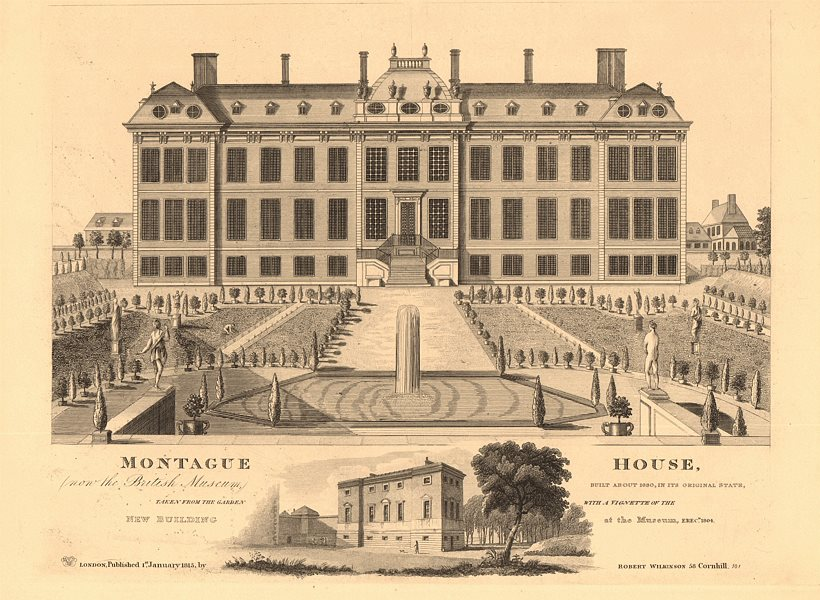 Associate Product BLOOMSBURY. Montague House, Great Russell Street. British Museum's 1st home 1834