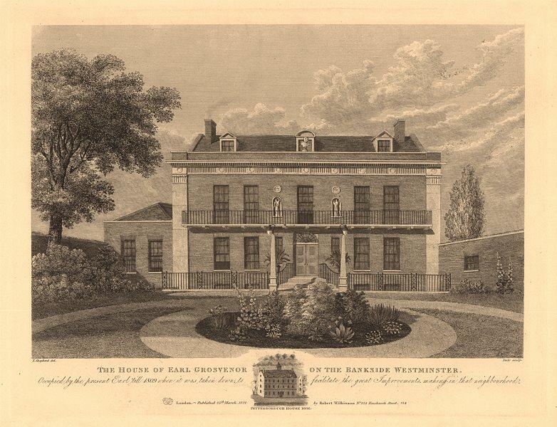 Associate Product MILLBANK. Peterborough House, residence of Earl Grosvenor. Westminster 1834