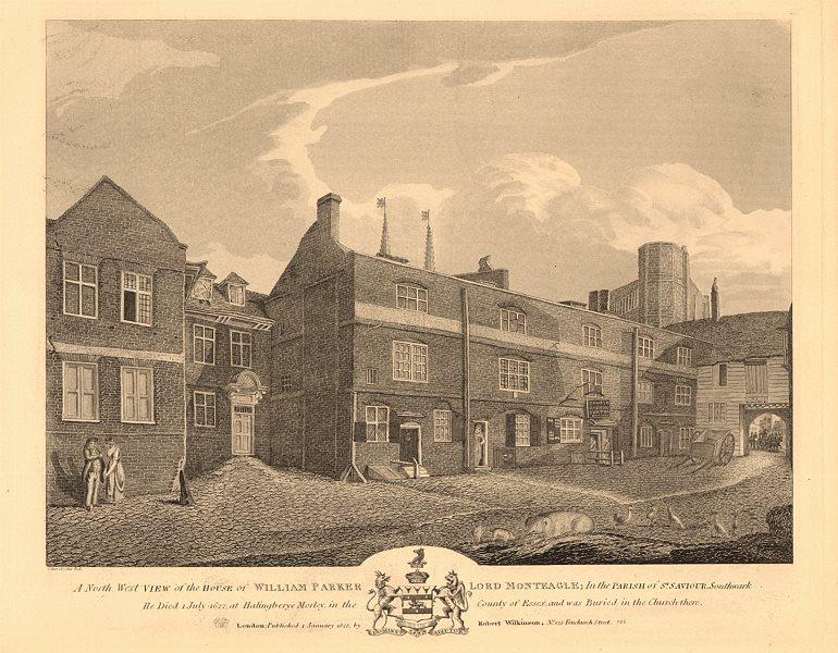 Associate Product MONTEAGLE HOUSE, Montague Close, Southwark. William Parker. Gunpowder plot 1834
