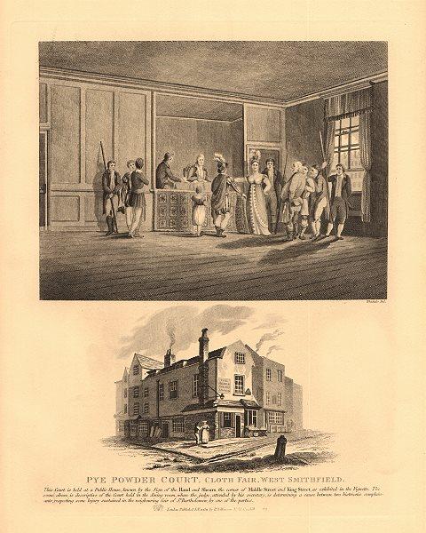 Associate Product SMITHFIELD. Piepowder court, Cloth Fair. Hand & Shears Pub. Middle/King St 1834