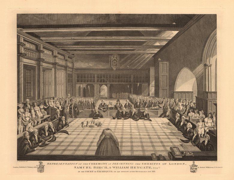 Associate Product EXCHEQUER. Sheriffs of London presentation. Samuel Birch/Wm Heygate 1811 1834