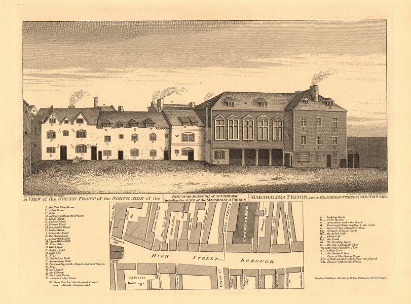 Associate Product MARSHALSEA PRISON & BOROUGH HIGH STREET MAP. Union Street. King Street 1834