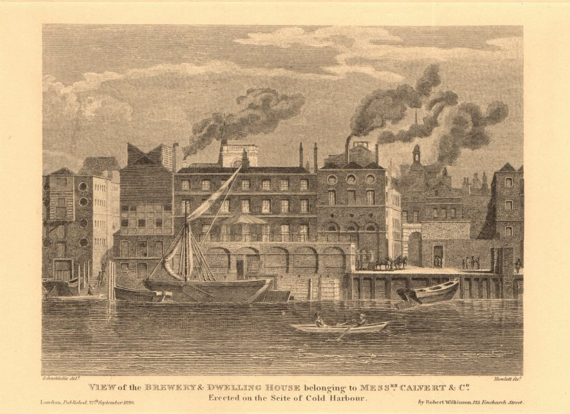 Associate Product CALVERT BREWERY. Coldharbour, Upper Thames Street, City of London 1834 print