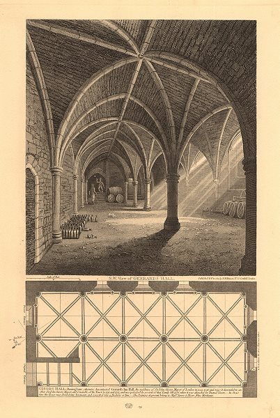 Associate Product GERARD'S INN OR GISORS HALL, Basing Lane (now west part of CANNON STREET) 1834