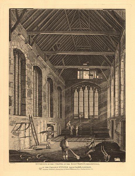 Associate Product HOLY TRINITY CHAPEL, LEADENHALL. Interior. City of London. WILKINSON 1834
