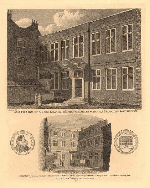 Associate Product QUEEN ELIZABETH'S FREE GRAMMAR SCHOOL, Southwark, now ST OLAVE'S ORPINGTON 1834