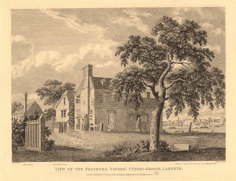 FEATHERS TAVERN, WATERLOO BRIDGE ROAD. Cupers Bridge, Lambeth. London pubs 1834