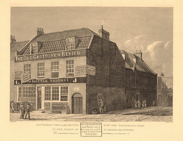 Associate Product GOLDSMITHS ARMS PUB, 96 Southwark Bridge Road. Originally 'The Grotto' 1834